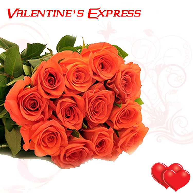 Buy 12 Orange Roses Bunch at Rs.849