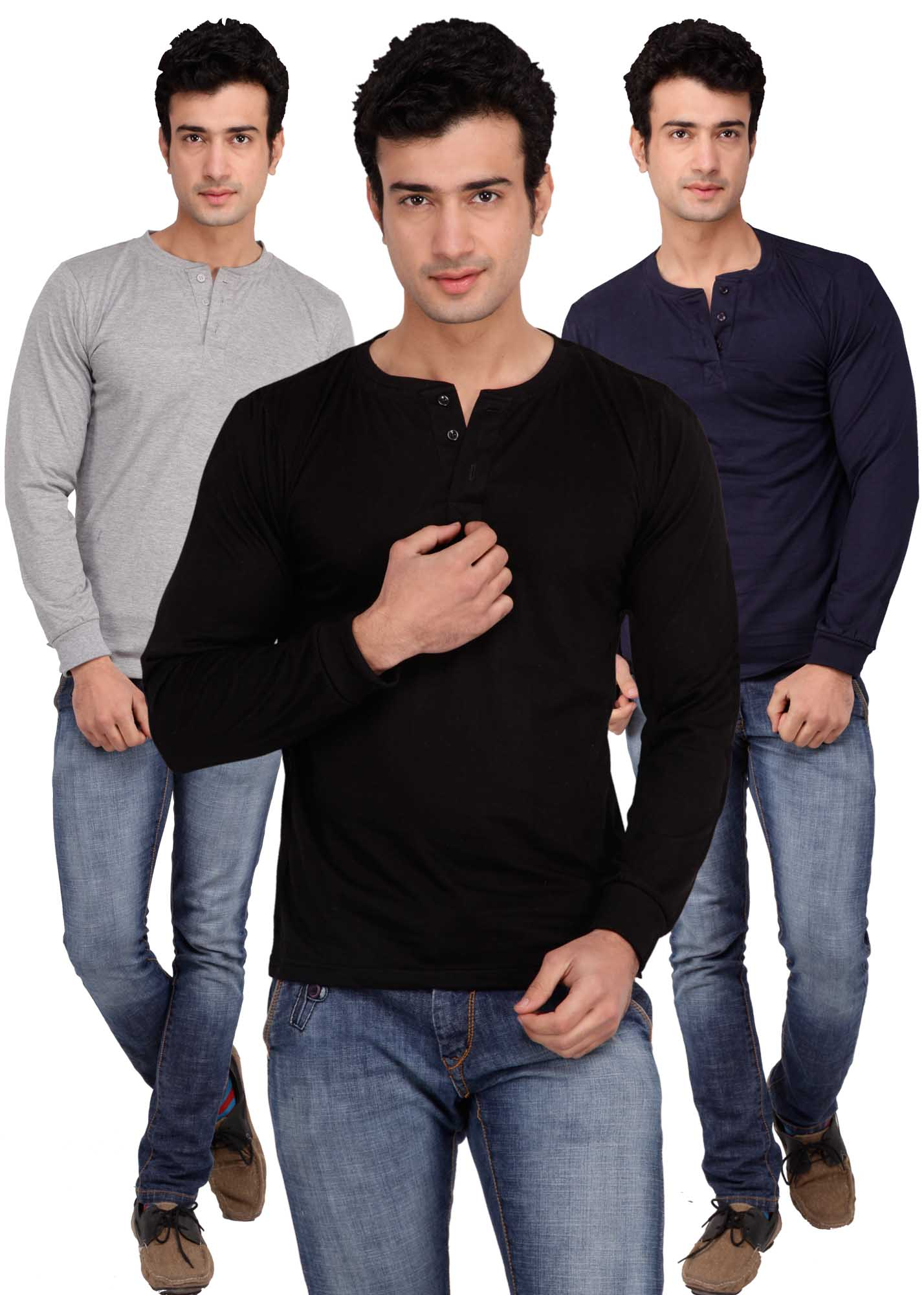 Pack of 3 Inkovy Cotton Men T-shirt at Rs.1090
