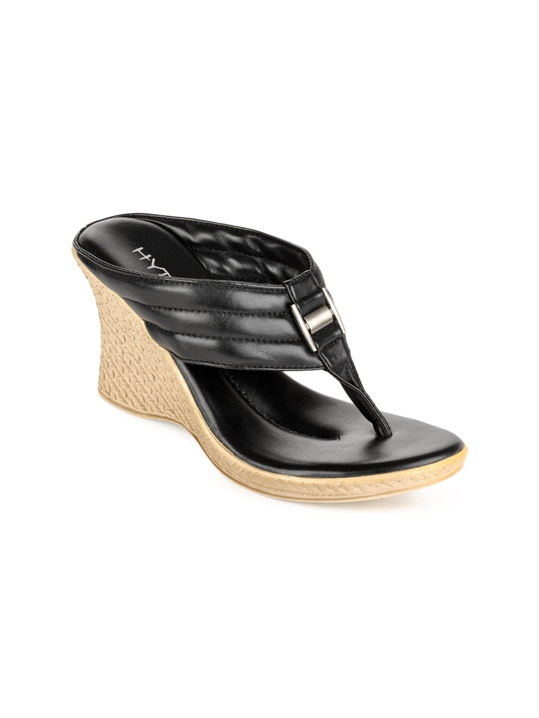 Hype Women Black Sandals at Rs.674