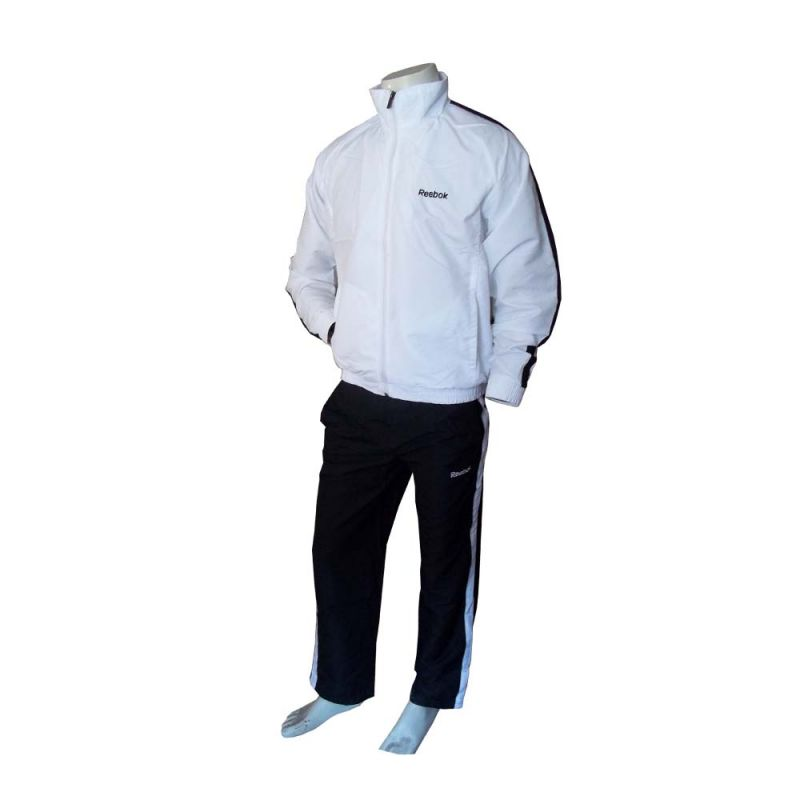 Reebok White & Black Tracksuit at Rs.1199