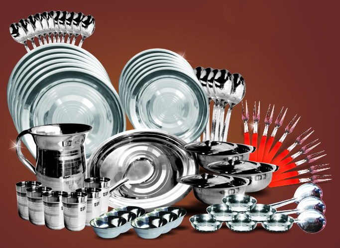 70 PCs Stainless Steel Dinner Set at Rs.2499