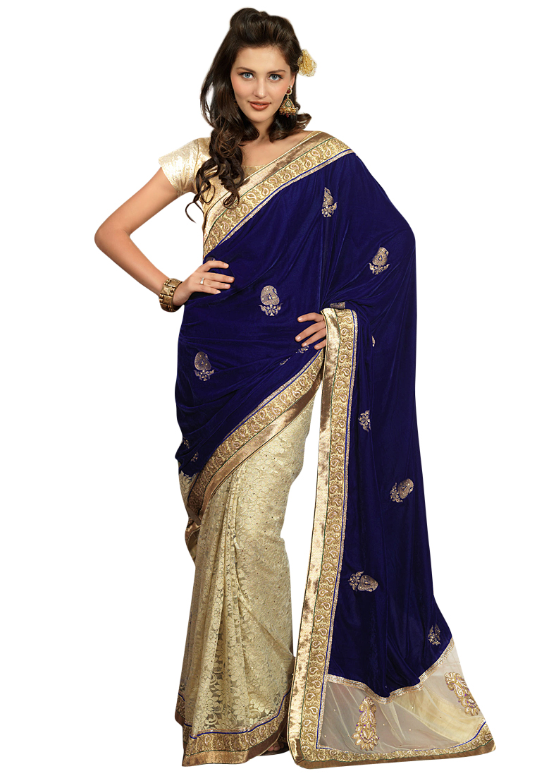 Parvati Navy Blue Saree at Rs.5499