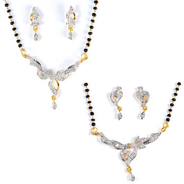 Set of 2 Luxor Mangalsutra & Earrings at Rs.573