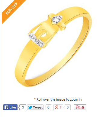 Dimond ring at Rs.2590