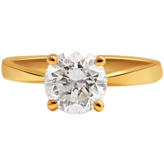 Round Dia 18KT gold ring 4 prong setting at Rs.149