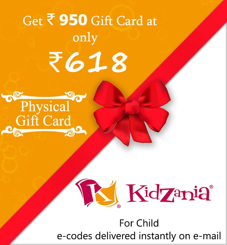 KidZania Rs.950 gift card at Rs.618